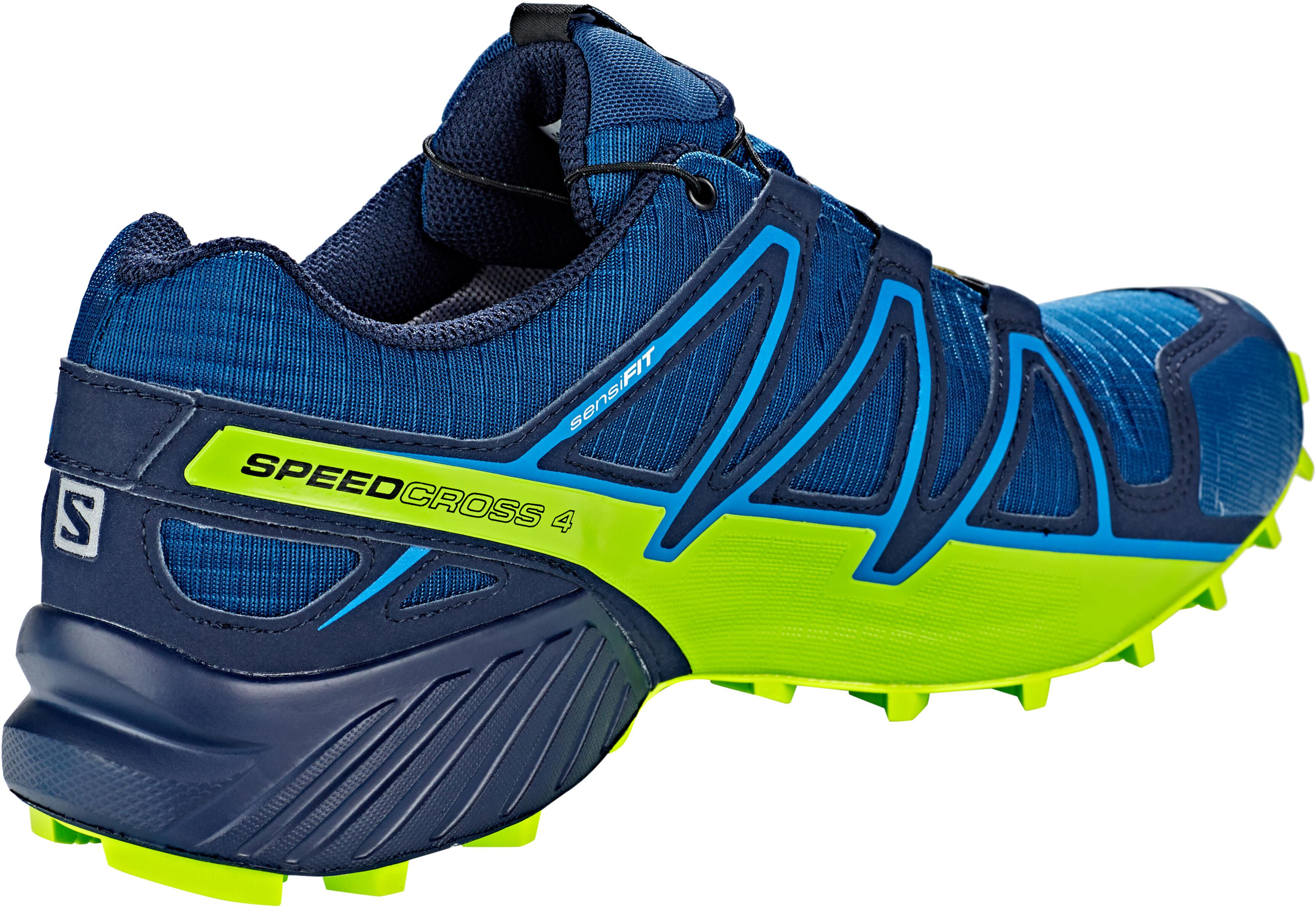 f6f8a0d5 Salomon Speedcross 4 GTX Shoes Men poseidon/navy blazer/lime green ...
